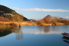 Lago Skadar Fotografia de Stock