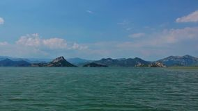 Lago Skadar video d archivio