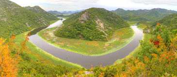 Lago Skadar em Montenegro Fotos de Stock Royalty Free