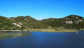 Lago Skadar em Montenegro, Europa imagem de stock royalty free