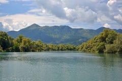 Lago Skadar - jezero di Skadarsko Fotografia Stock