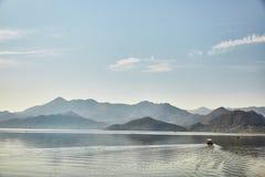 Lago Skadar Parque nacional montenegro verão fotos de stock royalty free