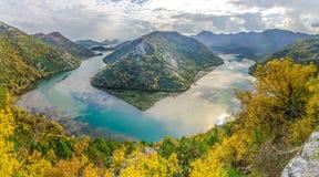 Lago Skadar Rijeka Crnojevica Immagine Stock Libera da Diritti