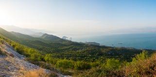 Lago Skadar sulla frontiera fra l'Albania ed il Montenegro Immagine Stock