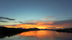 Lago sky Immagine Stock