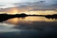 Lago sky Fotografia Stock Libera da Diritti