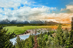 Lago snake en el parque magnífico de Teton fotografía de archivo libre de regalías