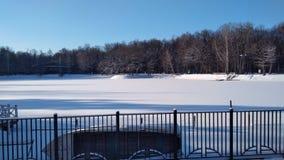 Lago snow Foto de archivo libre de regalías