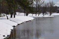 Lago snow nel Tennessee Immagine Stock Libera da Diritti