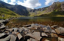 Lago Snowdonia, Galles Immagine Stock