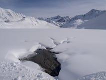 Lago snowy Fotografía de archivo