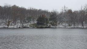 Lago Snowy fotografia stock libera da diritti