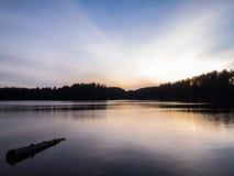 Lago Snset mew Fotografia Stock Libera da Diritti