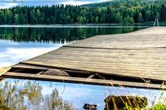 Lago Sognsvann a Oslo, Norvegia Fotografia Stock