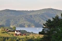 Lago Solina in montagne di Bieszczady Fotografie Stock