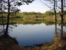 Lago in sorgente in anticipo fotografia stock libera da diritti