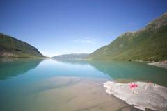 Lago sotto Svartisen Fotografia Stock Libera da Diritti