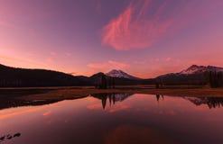 Lago sparks en la puesta del sol Imagen de archivo