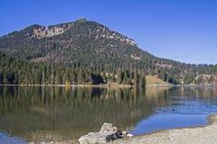 Lago Spitzingsee Fotografia Stock Libera da Diritti