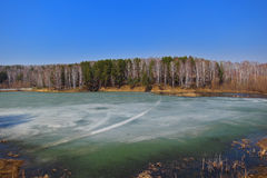 Lago 3 spring Immagine Stock