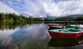 Lago Srbske Pleso en las altas montañas eslovacas de Tatra Imágenes de archivo libres de regalías