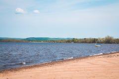 Lago St-Gabriel-de-Brandon Quebec Maskinonge fotografía de archivo