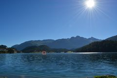 Lago St Moritz Foto de Stock Royalty Free