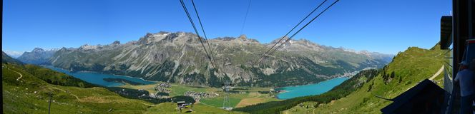 Lago St Moritz Fotografía de archivo libre de regalías