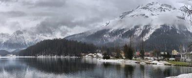 Lago St Moritz en el otoño Imagenes de archivo