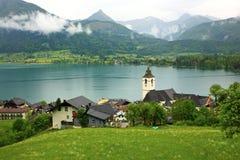 Lago St Wolfgang, Áustria Imagem de Stock