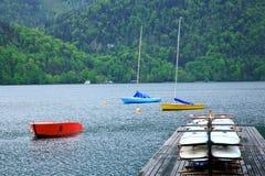 Lago St Wolfgang, Áustria fotos de stock royalty free