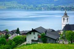 Lago St Wolfgang, Áustria foto de stock royalty free