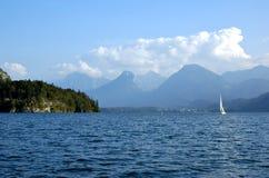 Lago St Wolfgang em Áustria Fotografia de Stock Royalty Free
