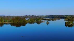 Lago Staffelsee perto de Murnau, Baviera, Alemanha filme