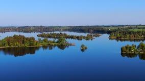 Lago Staffelsee vicino a Murnau, Baviera, Germania stock footage