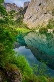 Lago strabiliante Obersee in alpi tedesche Fotografie Stock Libere da Diritti