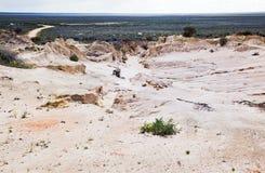 Lago straniero Mungo Australia di paesaggio lunare Fotografia Stock Libera da Diritti