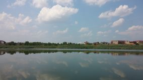 Lago Straulesti - opinión del espejo Fotografía de archivo libre de regalías