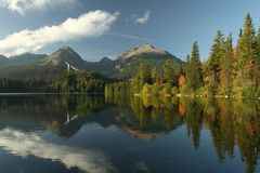 Lago Strbske Fotografia de Stock Royalty Free