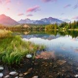 Lago Strbske Pleso in alta montagna di Tatras, Slovacchia Europa Immagine Stock Libera da Diritti