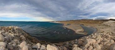 Lago strobel with Rio Barrancoso confluence Royalty Free Stock Photos