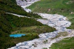 Lago stupefacente della montagna Fotografie Stock