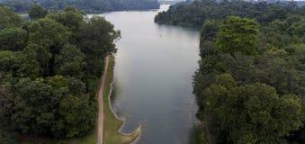 Lago stupefacente visto da sopra Immagine Stock