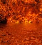 Lago su fuoco Fotografia Stock