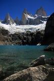 Lago Sucia y montaje Fitz Roy, la Argentina Imagenes de archivo