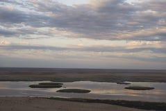 Lago Sudochie, platô de Usturt imagens de stock