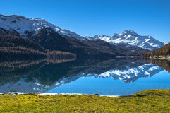 Lago suizo Silvaplana Imagen de archivo