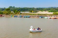 Lago Sukhna, Chandigarh Immagini Stock