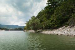 Lago Sukko, região de Krasnodar, Rússia, parque de Sukko, lago cypress foto de stock royalty free