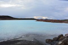Lago sulfur Fotografie Stock